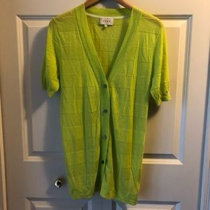SHAE by Anthropologie short sleeve long cardigan